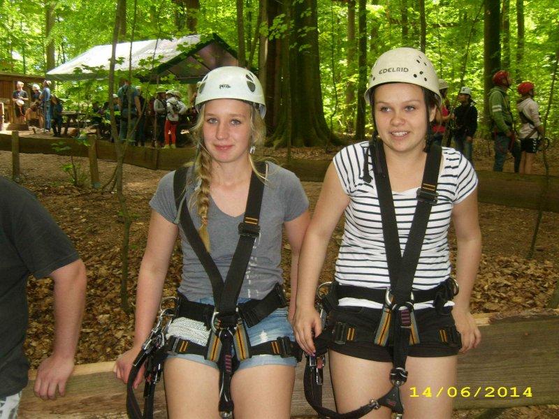 Weibliche C-Jugend Hochseilgarten 7